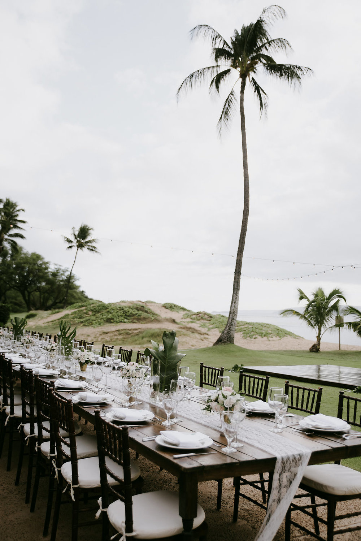 hawaii wedding table