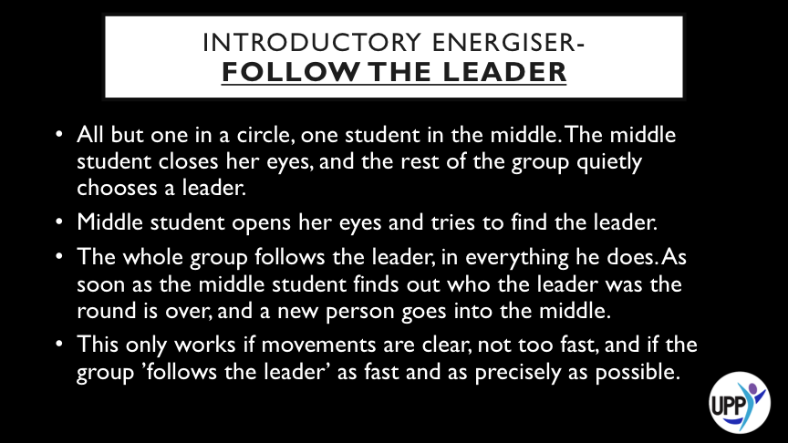 DEBRIEF: WE LEAD THROUGH OUR ACTIONS, NOT JUST THROUGH OUR WORDS OR THE POSITIONS WE MAY HOLD. SOMETIMES WE NEED TO BE GOOD FOLLOWERS AND SUPPORT THOSE LEADERS WE BELIEVE IN, OR THOSE WHO ARE PROMOTING CAUSES WE WANT TO SUPPORT. DID ANY FOLLOWERS DELIBERATELY MISLEAD THE STUDENT IN THE MIDDLE? WHAT MIGHT THIS TELL US?