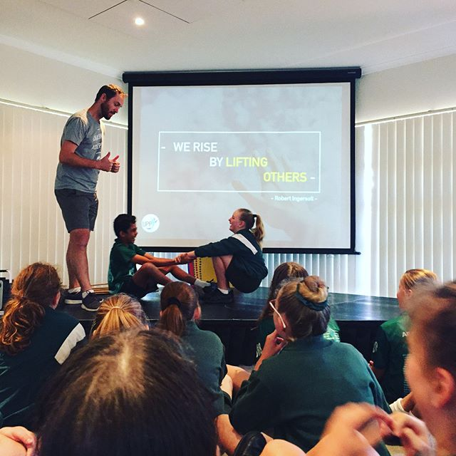 Getting to share the journey of learning and leadership with these legends. #year5  #year6 #leadership #werisebyliftingothers #school