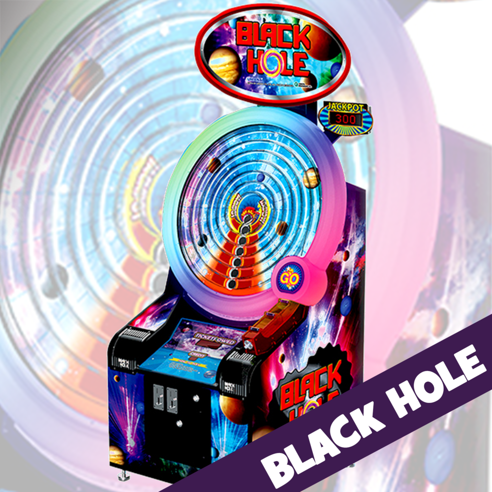 EVERYONE'S A WINNER! A true skill game where the player has total control! Pull the plunger and shoot the ball to win the jackpot. Watch the brilliant light show as the ball circles the playfield.