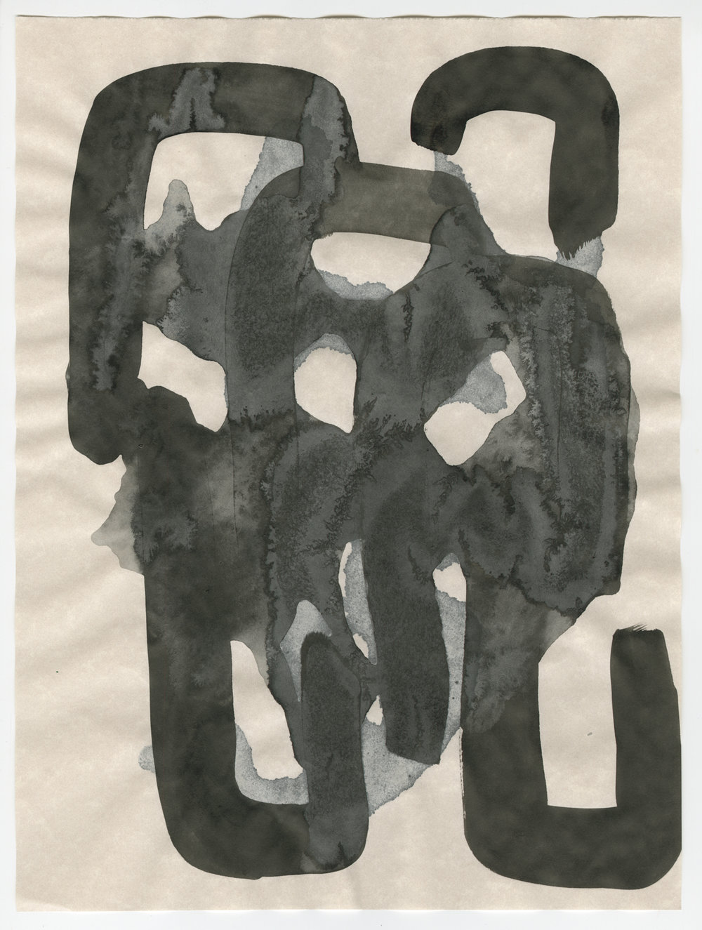 Untitled, ink on parchment, 2013, 13 3/4 x 10 ¾ inches