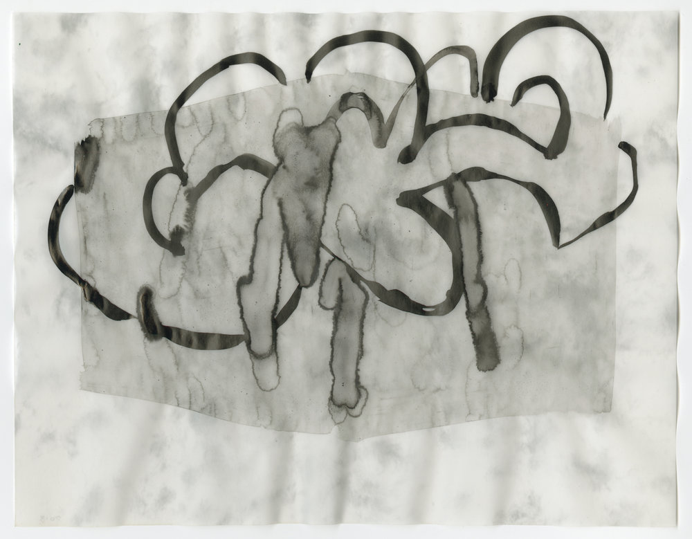 Untitled, ink on vellum, 2013, 8 ½ x 11 inches
