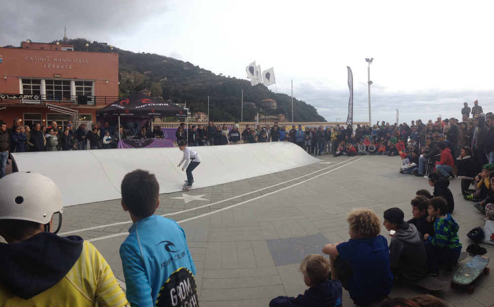 Surfskate contest at Rip Curl Grom Search in Levanto.