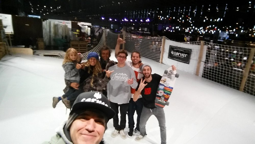 Team Whitezu on the Surfskate Urban Wave at ISPO Munich