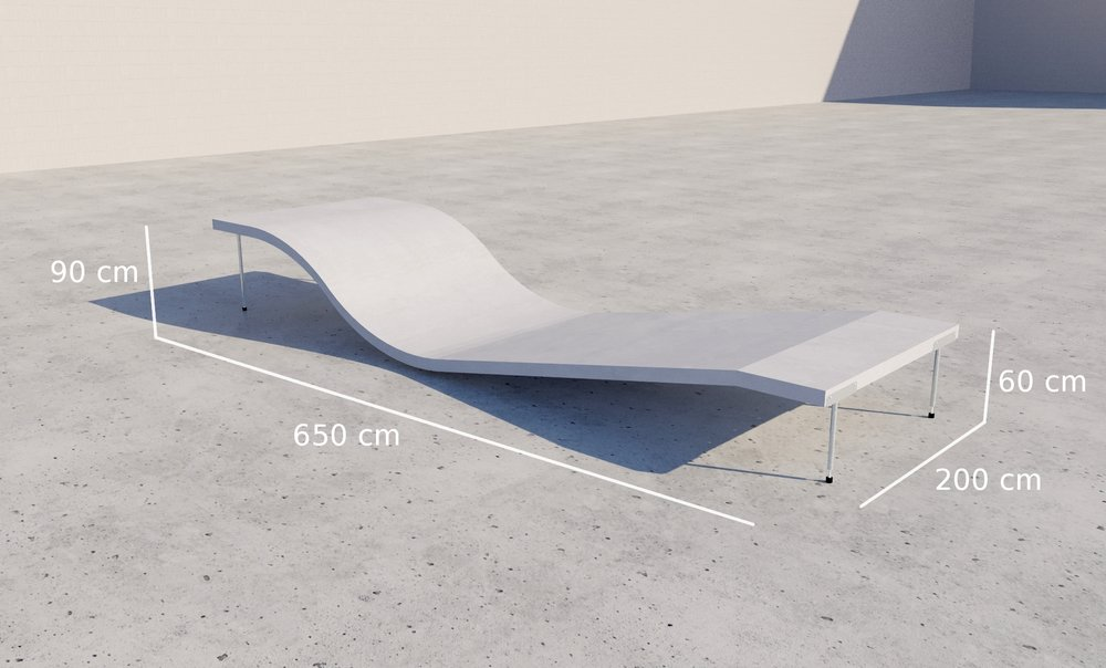 PRO Training Whitezu Surfskate Waves - Training table dimensions
