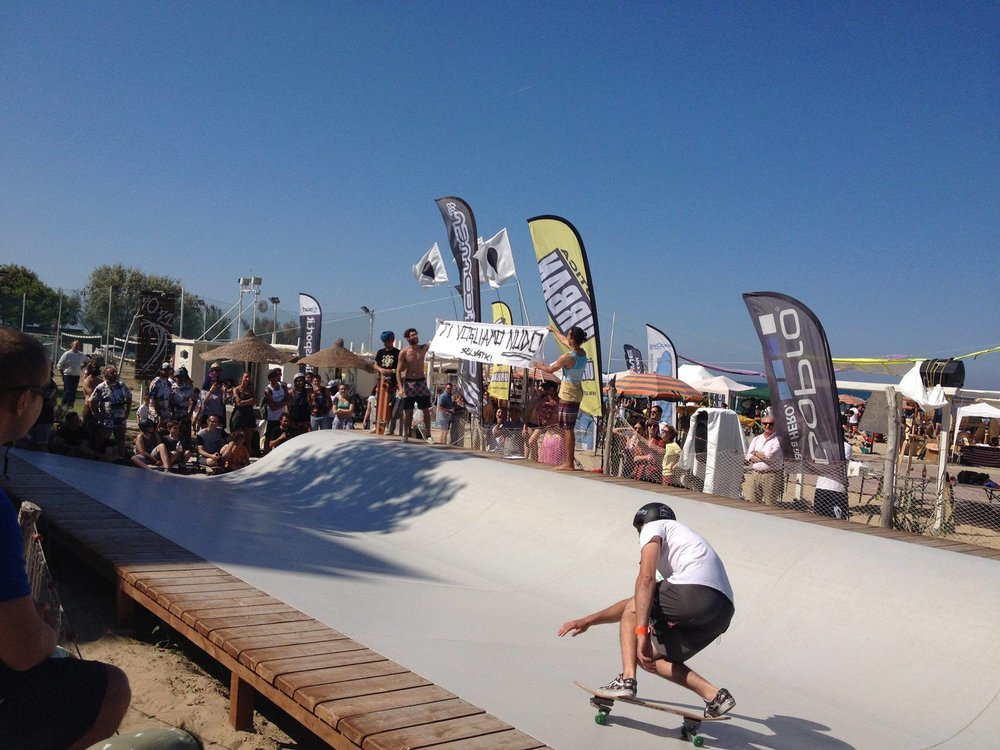 Luca Boari surfing the Whitezu PRO Training surfskate spot at Soul Hands Festival