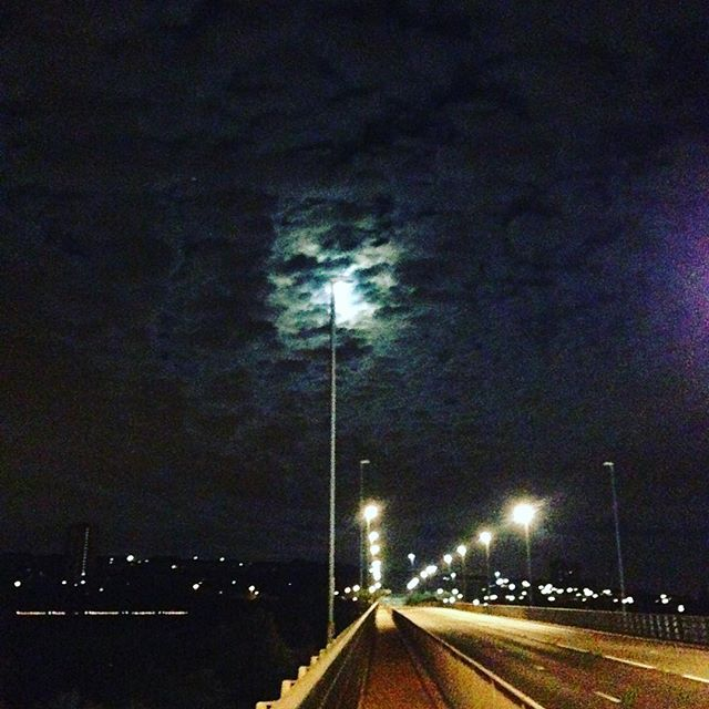 The view from here - Redheugh bridge, Newcastle to Gateshead on wednesday night #clouds #view #walkofshame