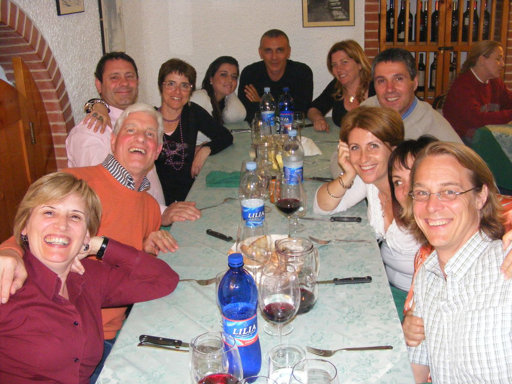 Left to Right - Italia, Luigi, Maurizio II, Pina II, Valentina, Maurizio I, Pina I, Roberto, Carmen, Lisa, and me. These people have welcomed us to their circle with open arms.