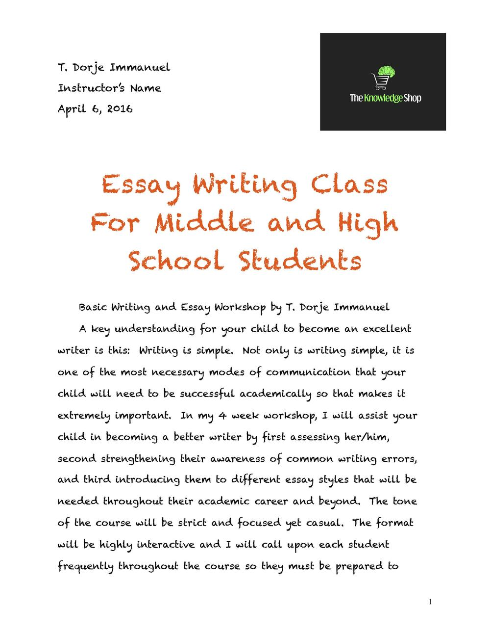 essay writing the knowledge shop la