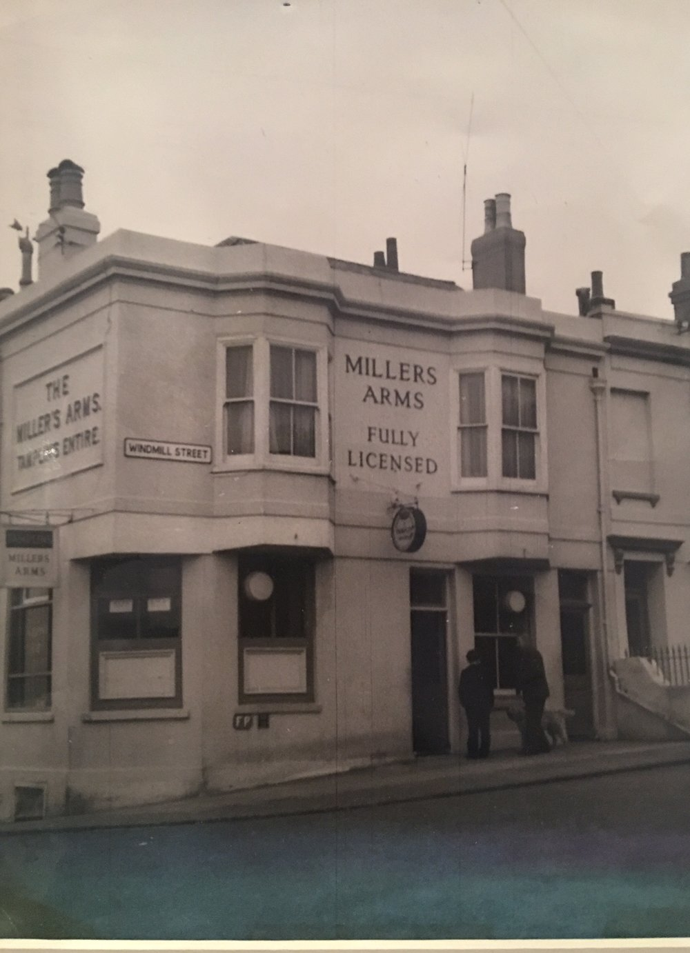 Setting Sun Known as Millers Arms Photo Dated 1961