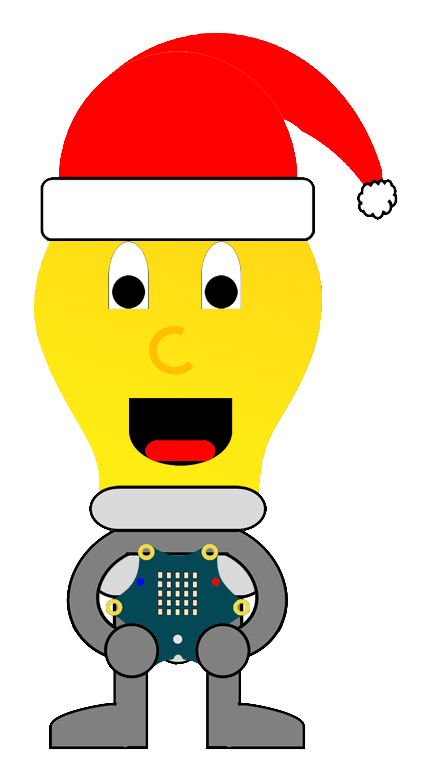 Also entweder der Weihnachtsmann ist zu laut (Geräuschpegel höher als 5%) ODER der Calliope mini wird zu sehr bewegt. Dann wird ein Ton abgespielt.