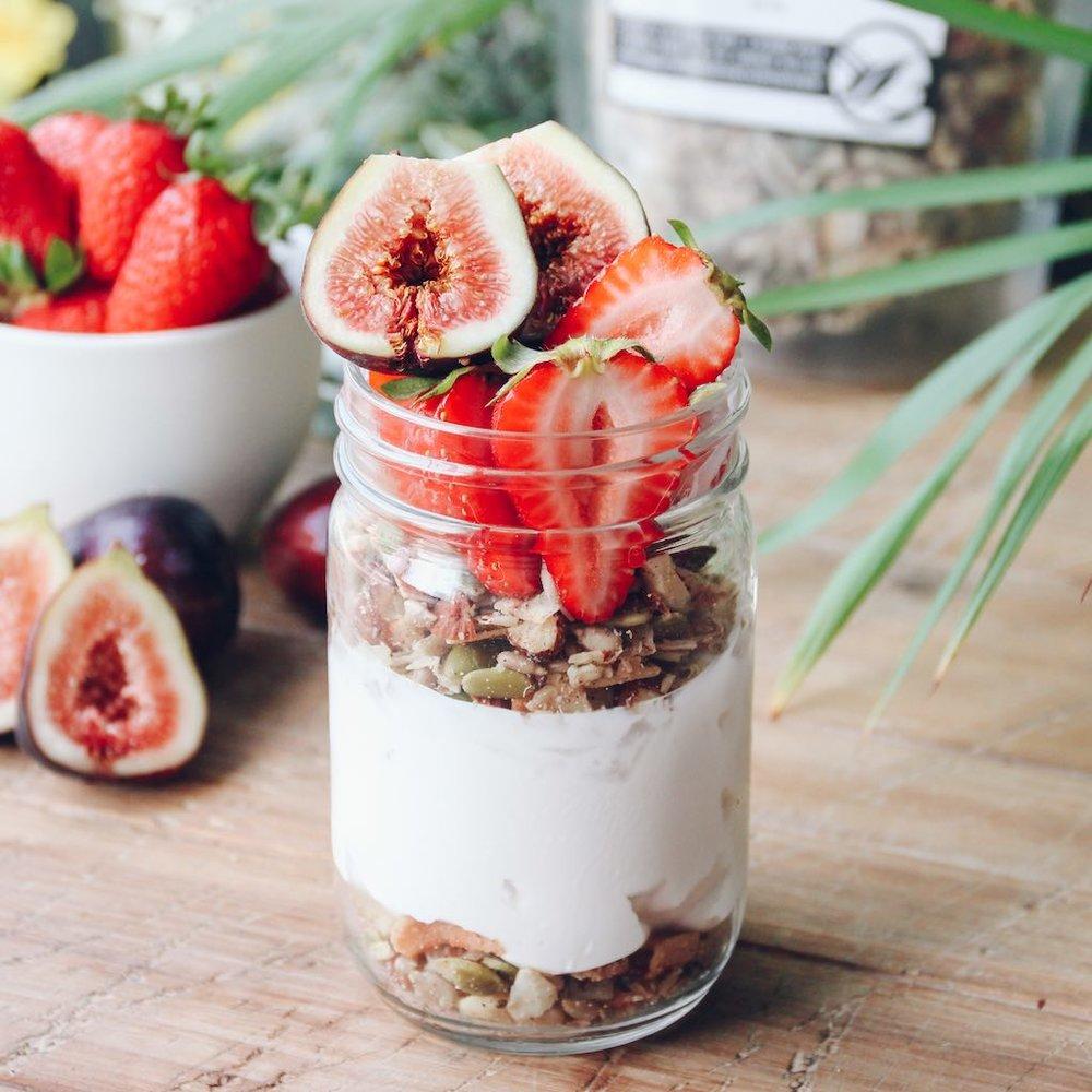 Sugar Free Granola Breakfast Jar Recipe.jpg