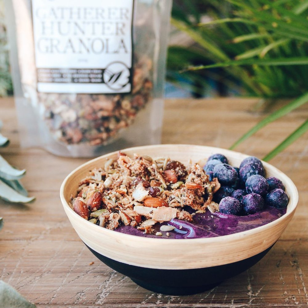 Blueberry Banana Smoothie Bowl - GATHERER HUNTER GRANOLA.jpg