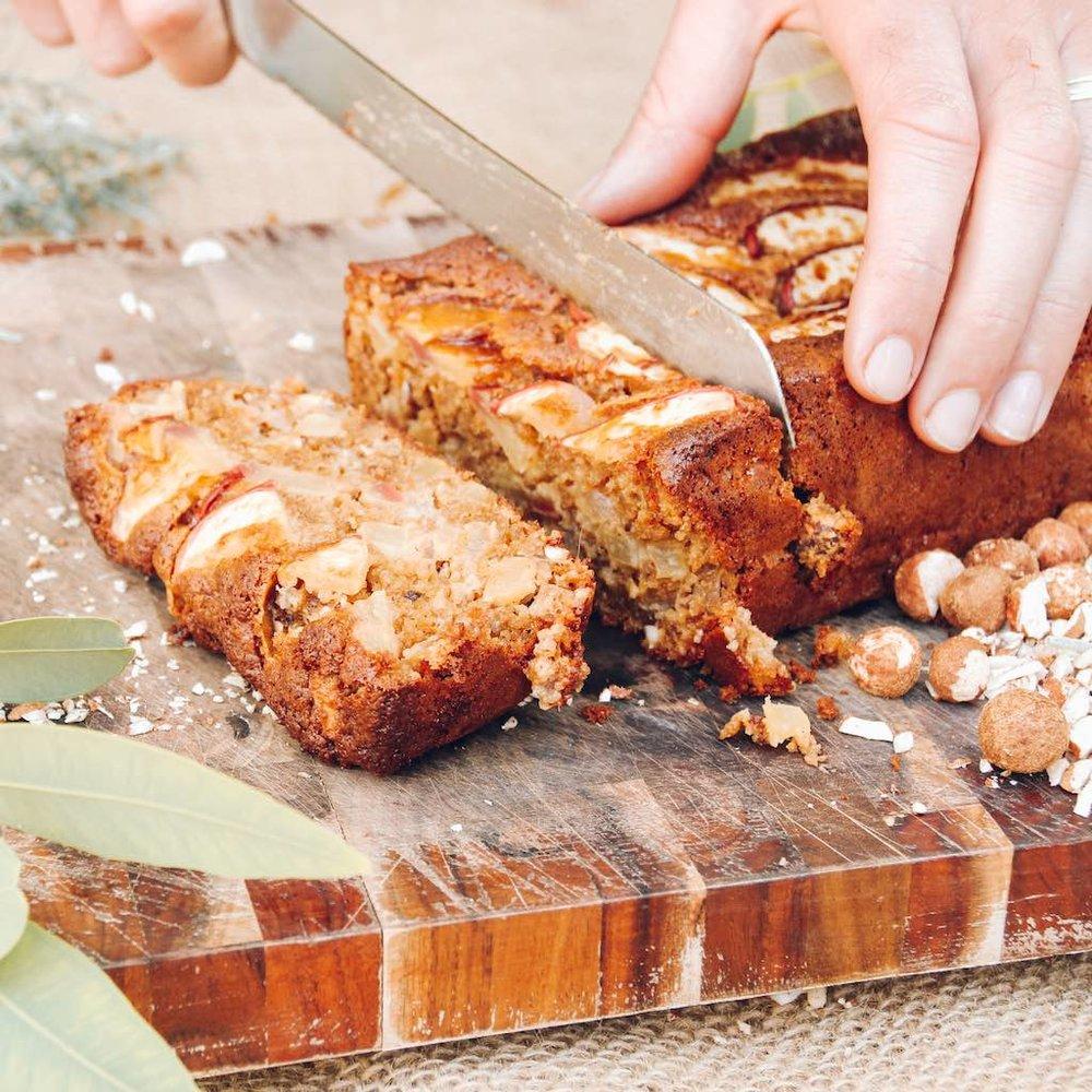 Apple, Sandalwood Nut + Baobab Loaf Recipe
