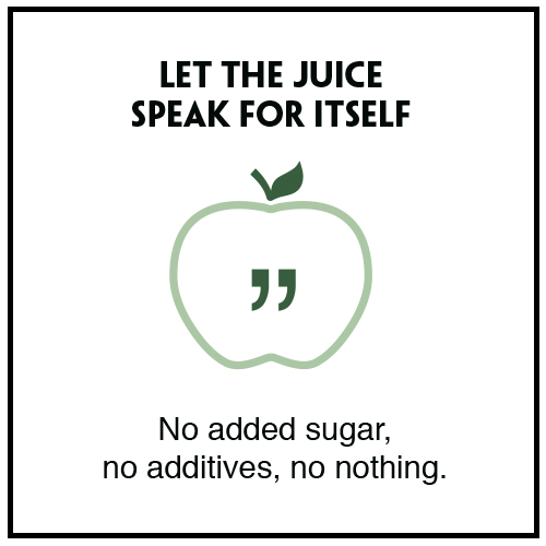 We don't add anything to our juice just 100% Raw fruit and vegetables. No sugar, No additives No nothing!