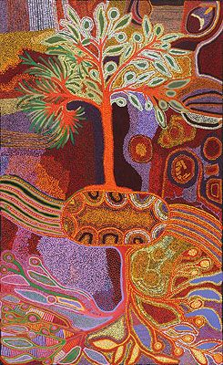 Nancy Katanari Tjillya / Tree of Life (in collaboration w/ Alison Riley, Nyurpaya Kaika, Nurina Burton) 2011 198 x 122cm via pinterest