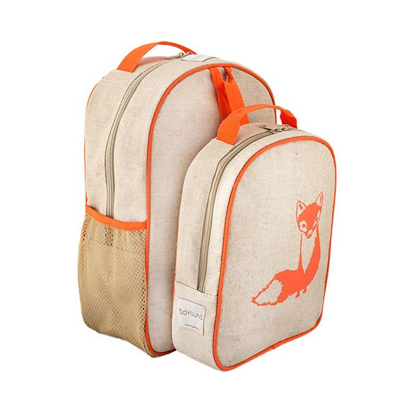 SoYoung Toddler Backpack - Lunch set Orange Fox from www.biome.com.au