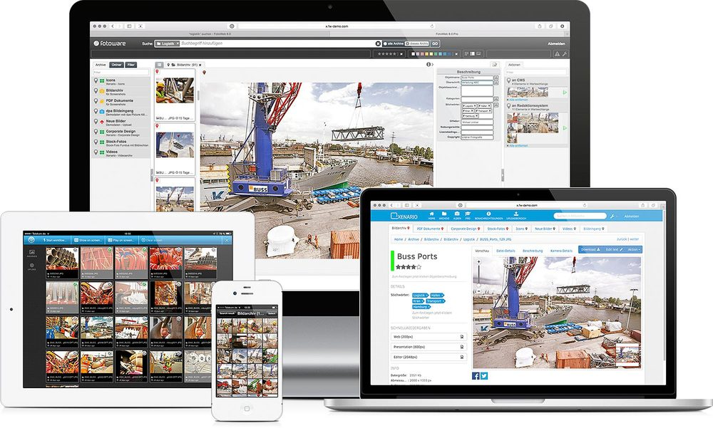 FotoWare Digital Asset Management works on different devices ...