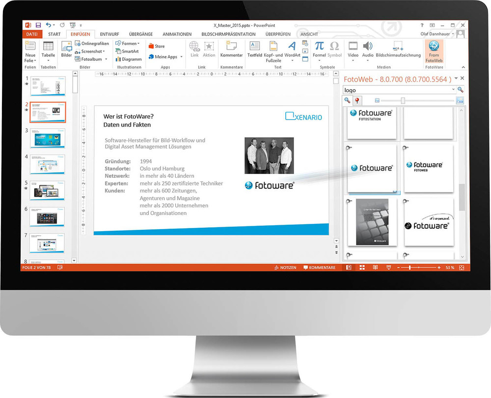 FotoWeb Desktoop PlugIn for Microsoft Powerpoint and Word