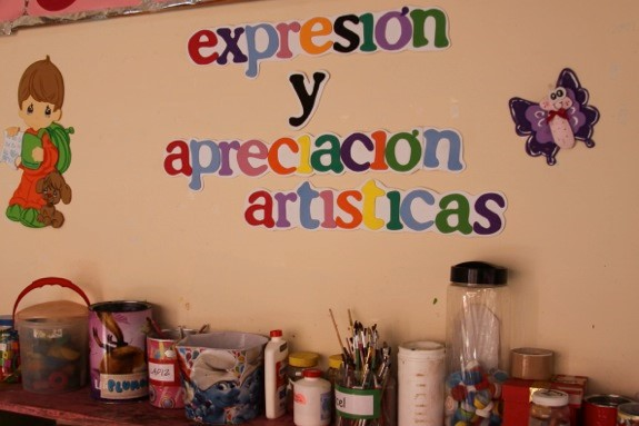 Arts are an important component of the day care program at the CASA.