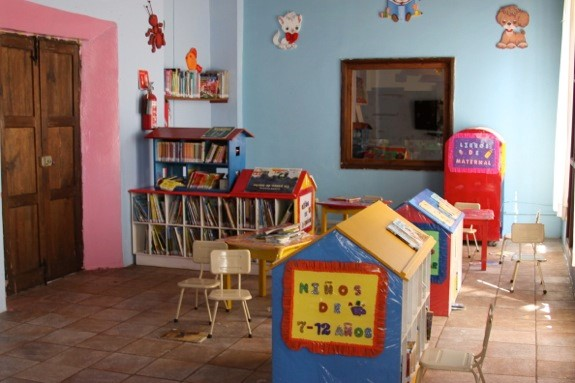 CASA library and activity center for day care students and the local community.