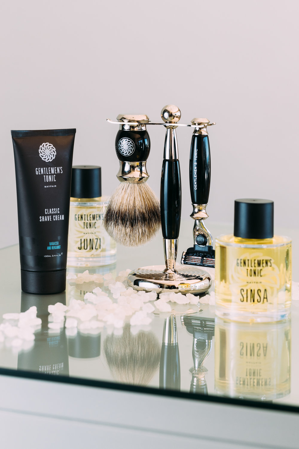 A product shot of Gentlemen's Tonic grooming products at the Ellerman House Spa