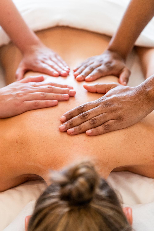 Delaire Graff Spa four hands massage