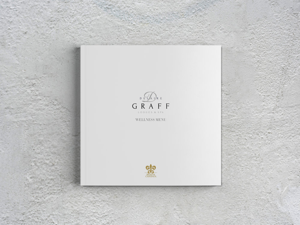 Delaire Graff Spa wellness menu front page