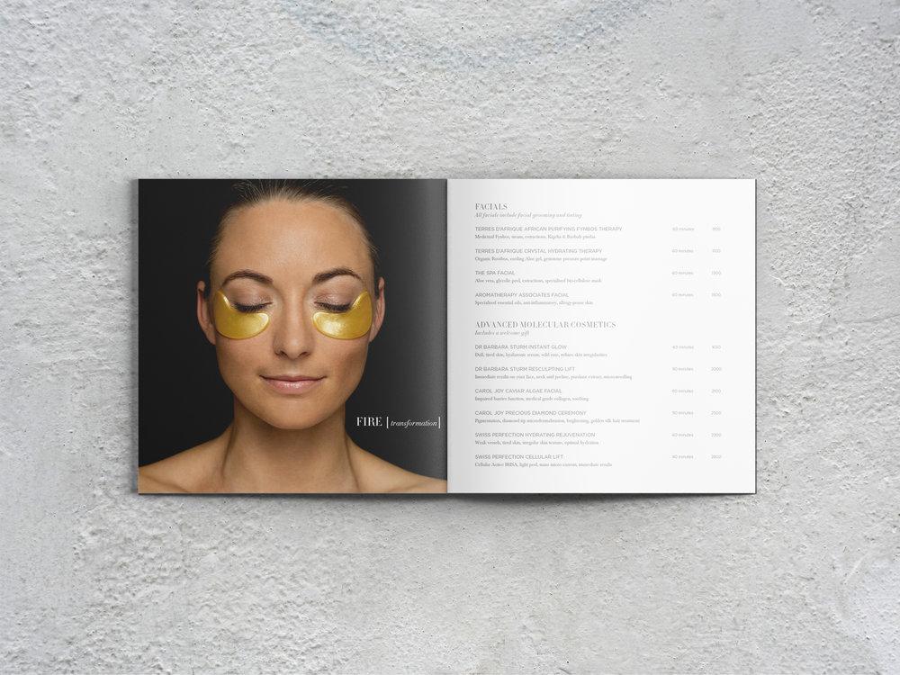 Delaire Graff Spa wellness menu fire treatment with Knesko facial mask image