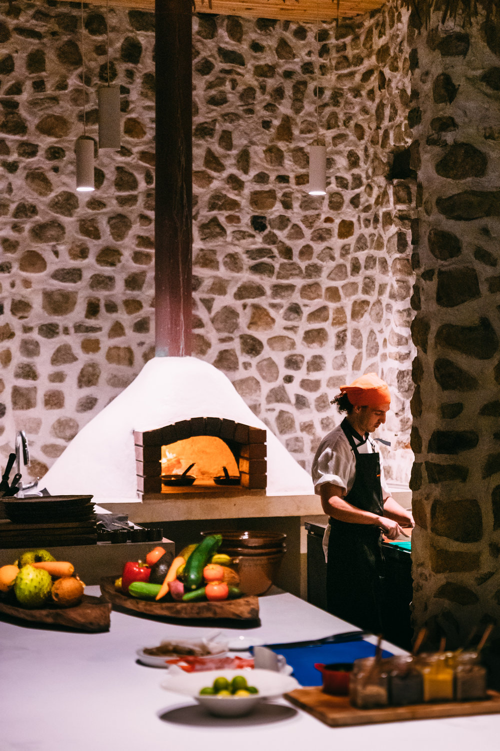 The wood-fired pizza oven at West Beach Bar on North Island, Seychelles