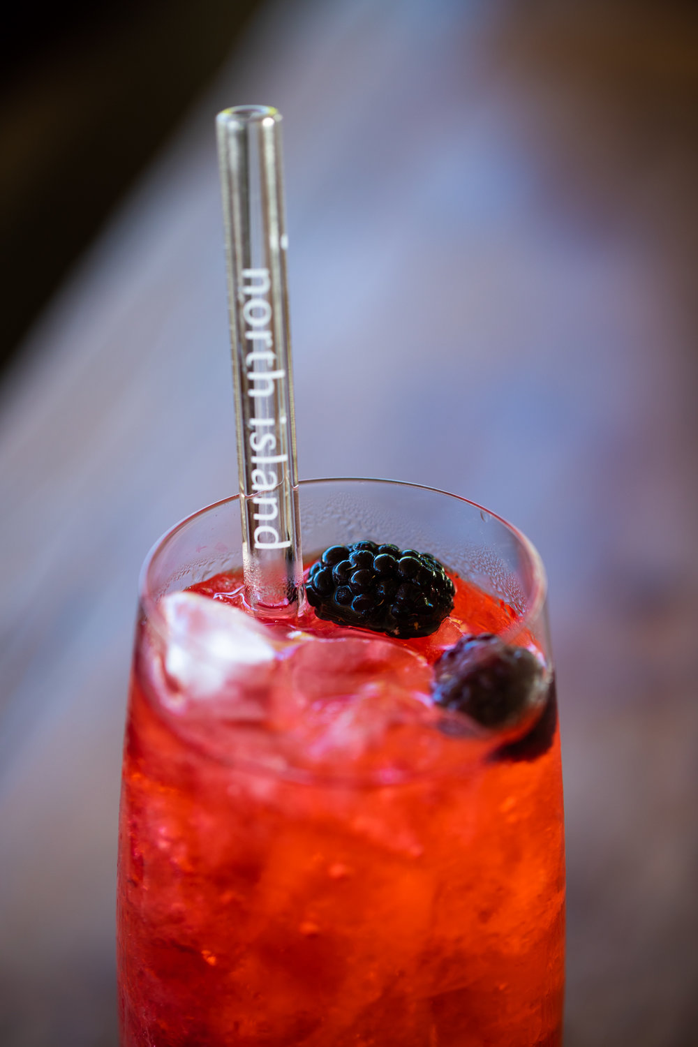 Blackberry Tonic cocktail at West Beach Bar on North Island Seychelles