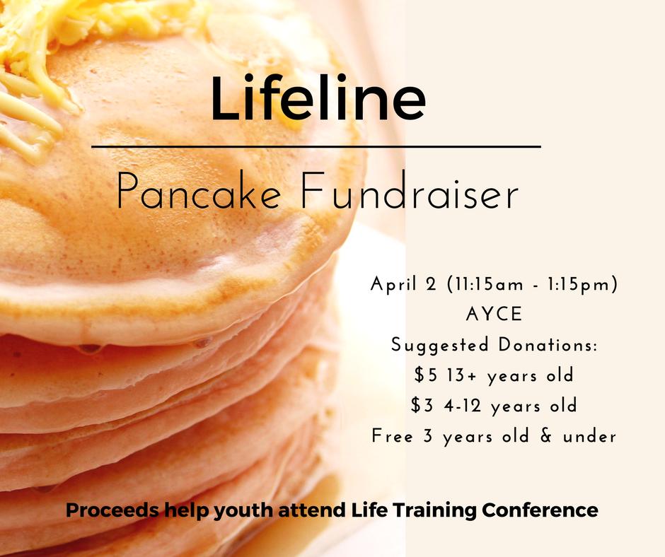 Lifeline Pancake Fundraiser