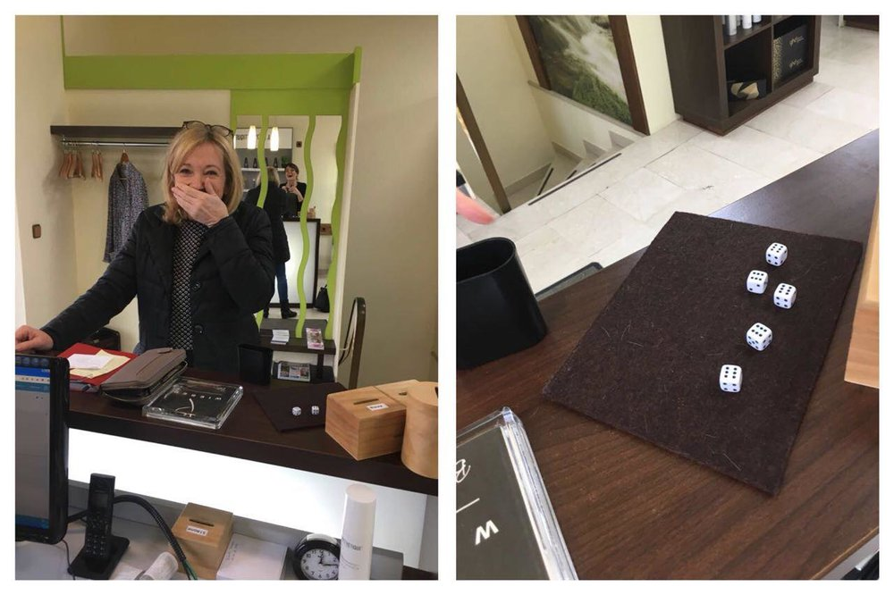 Unser heutiges Glückskind 🍀 ist unsere Kundin in unserem Salon aus Maisach. Sie hat doch tatsächlich 5 x die sechs gewürfelt 🤗👍👌 die Freude über das kostenlose Hairstyling war riesig