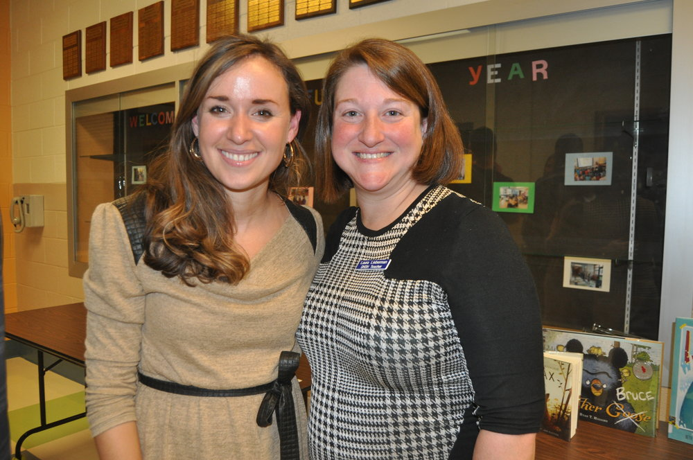 Counselor, Stephanie Hespe & Auditory Teacher, Laura Lieberman @ Back to School Night