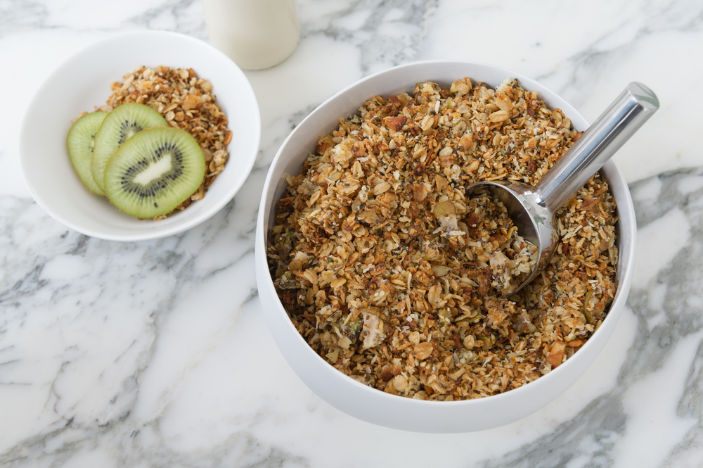 Pear, Kiwi and Ginger Toasted Muesli