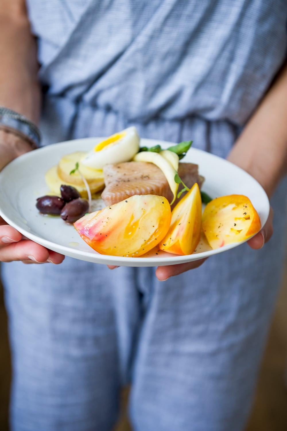 Tuna Nicoise Salad. Dairy free. Pescetarian.