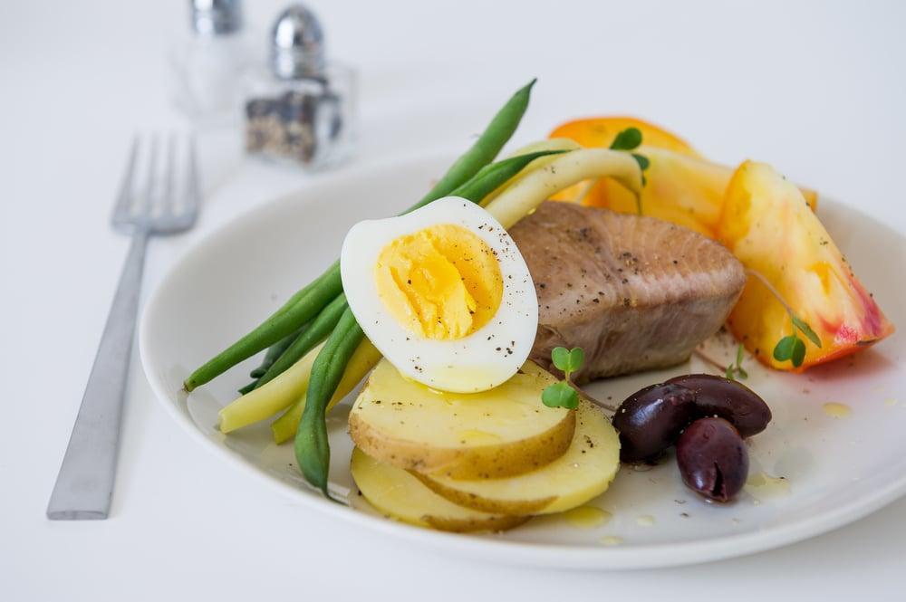 Tuna Nicoise Salad. Dairy free. Pescetarian