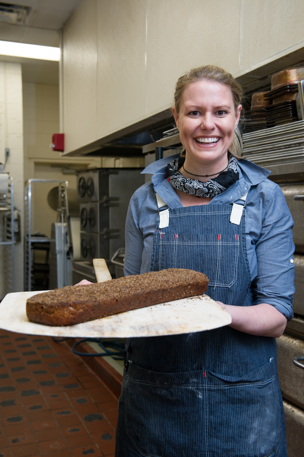 Carissa Waechter of Carissa's Bread finished loaf