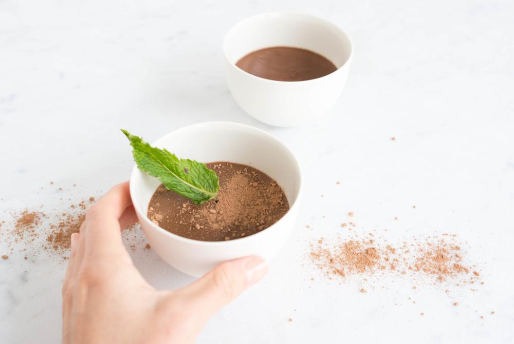 Chocolate Pot de Creme.Dairy free (contains eggs). Gluten Free. Vegan.