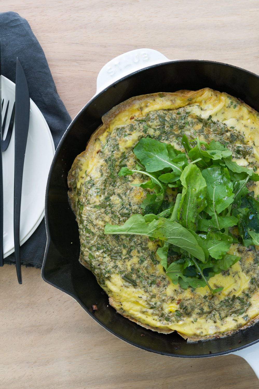 Gluten and Dairy Free Potato and herb skillet breakfast frittata recipe by Heather Cox of Eat Real Food