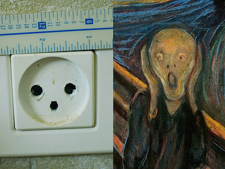 A typical electrical outlet in Jerusalem. Horrifying, no?