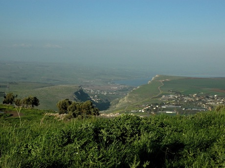 The north end of the Sea of Galilee as seen from the Horns. I took this picture early one Spring, before the sun withered the green of Lower Galilee to hues of brown and gold.