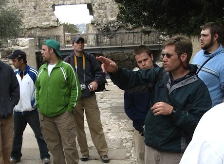 CCU student group in Jerusalem.