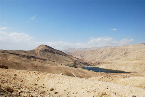 View to the Wadi al-Hasa.