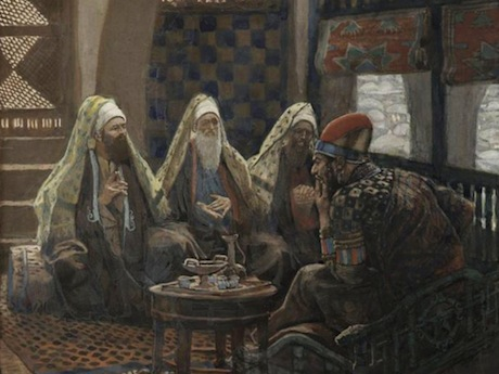 "James Tissot. ""The Magi in the House of Herod."" (between 1886-1894). Brooklyn Museum. Image from here."