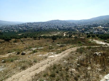 "The trail ""under"" Kafr Canna."