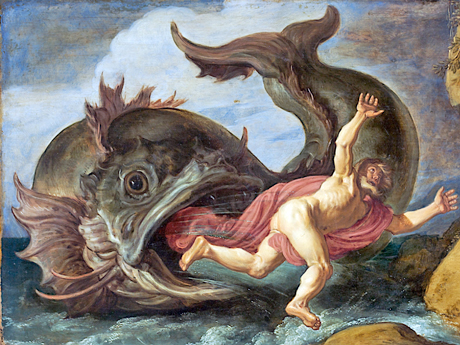 "Pieter Lastman, ""Jonah and the Whale"" (1621). Image source."