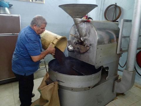 A coffee roaster. Can an Arab village survive without coffee? I don't think so!