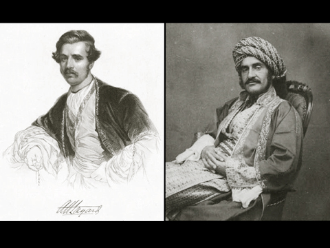 Layard (left) and Rassam (right). Images from http://images.nypl.org/index.php?id=1553342&t=w and http://en.wikipedia.org/wiki/ File:Hormuzd.Rassam.reclined.jpg.