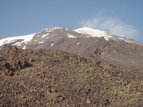 View from High Camp to the Summit.